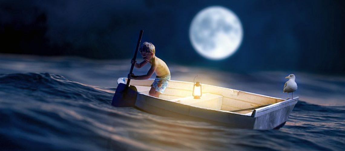 מנורת ירח תלת מימדית